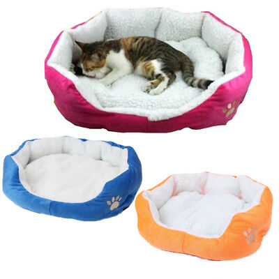 Pet Dog Bed Cat Cushion House Puppy Warming Sofa House Soft Cotton Mat Kennel