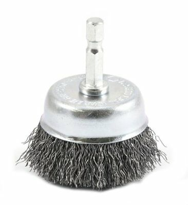 Forney 72729 Wire Cup Brush, Coarse Crimped with 1/4-Inch Hex Shank