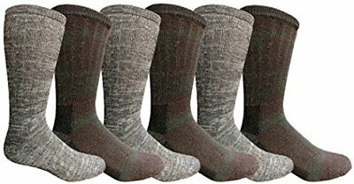WSD 6 Pairs Merino Wool Socks for Men, Hunting Hiking Backpacking Thermal Sock