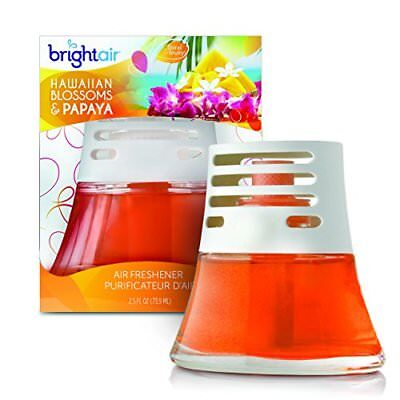 Bright Air Scented Oil Air Freshener and Diffuser, Hawaiian Blossoms and