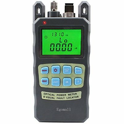 Egomall Fiber Optic Cable Tester -70 to +10dbm and 1mw 3.1mi Portable Optic