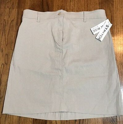 New With Tags Motherhood Maternity Low Rise Stretch Khaki Skirt Size Small