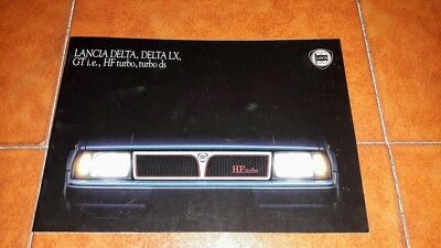Brochure Depliant Advertisement Lancia Delta Lx Gt Hf Turbo Ds Italiano 1987