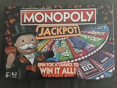 Monopoly Jackpot - Family Board Game Brand New and Sealed ages 8+