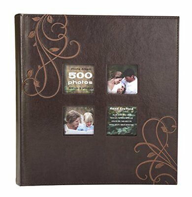 Kleer-Vu Photo Embroidery Leather Collection, Holds 500 4x6 inches Photos, 5