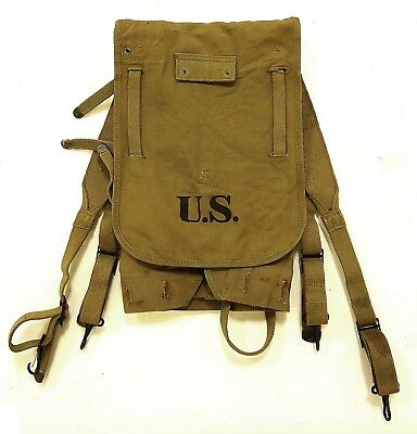 Authentic Vintage WWII M1928 US Army 1941 Haversack Boyt