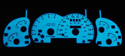 Green Glow Gauges Face Overlay New 90~93 Honda Accord Auto White Blue