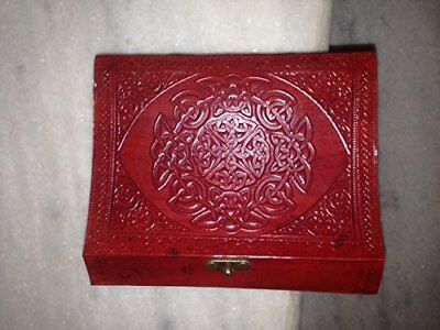 Leather Journal Writing Notebook, Antique Handmade Leather Bound Daily Notepad