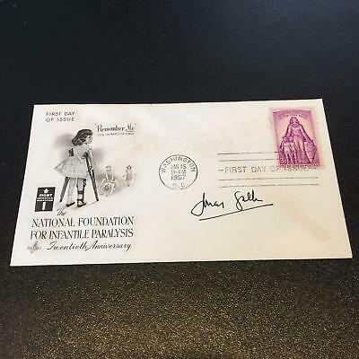 Rare 1957 Jonas Salk Signed Polio Vaccine First Day Cover FDC With JSA COA