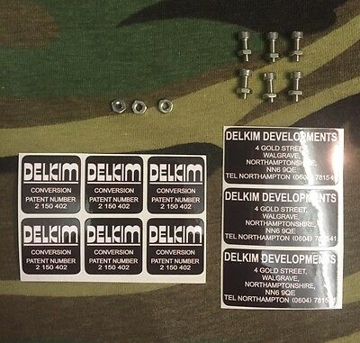 Delkim optonic upgrade kit decals and stainless snag ear bolts for 3 alarms