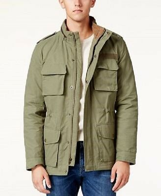 American Rag Men's Dennis Stand-Collar Military Utility Jacket Olive L $149