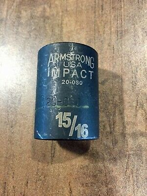 """Armstrong Impact Socket 15/16"""" 6 Pt 1/2"""" Dr 20-030"""