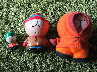3x Vintage South Park Figuren 1998/99 - Comedy Central , Konvolut , 7-18 cm, rar