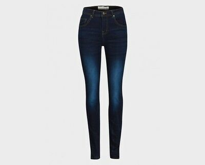 Ex New Look Ladies Faded Denim Blue Super  Skinny Stretch Jeans  Size 6 to 18