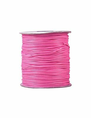 5m ou 10m Fil en Nylon Ciré 2mm Rose Cordon cire, attache tetine, bijoux