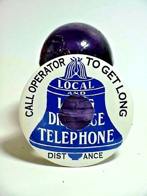 Telephone faceplate advertising attachment candlestick sign LLD bell  system