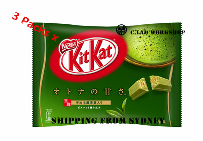 3Packs X Japanese Snack Nestle Japan Kitkat Kit Kat Matcha Green Tea Chocolate