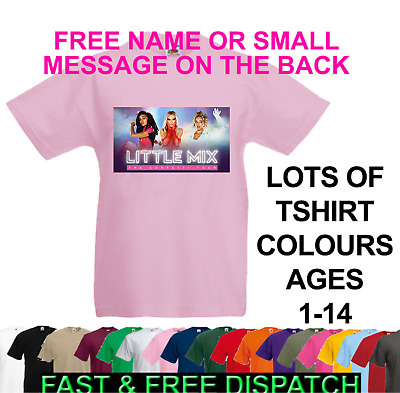 Personalised Little Mix Girls Kids Glory Days Tour 2017 02 T-Shirt Childrens