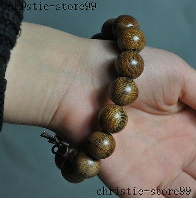 Collect chinese Buddhism wood carving fozhu beads Rosary Pray beads Bracelets