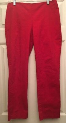 VTG Silhouette Red Capri Pants Rock High Waisted Pants Size M