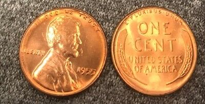 1955 Lincoln Wheat Cent Nice MS/BU RED Lincoln Coin high grade!!