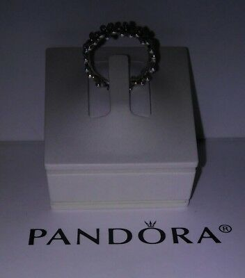 *new Authentic Pandora Jewelry Bangle Or Ring 3 Peice Counter Display Petalstool