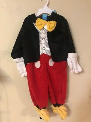 NWT Disney Clubhouse Mickey Mouse Plush Tuxedo Costume Size 6-9 months $34.99
