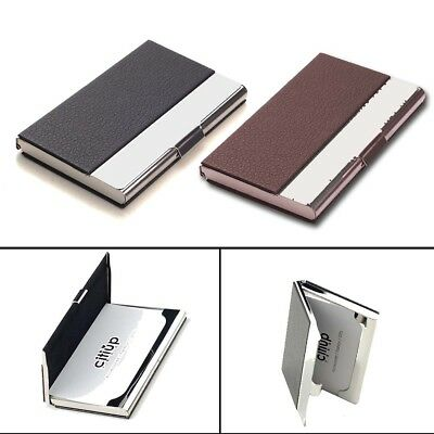 Men Stainless Steel Slim Money Clip Credit Card Holder Wallet Purse Portable Box