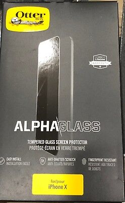 Otterbox Alpha Tempered Glass Screen Protector for Apple iPhone X AND NEW XS