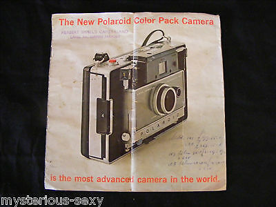THE NEW POLAROID COLOR PACK CAMERA ORIGINAL GENUINE SALES BOOKLET ~ Advertising