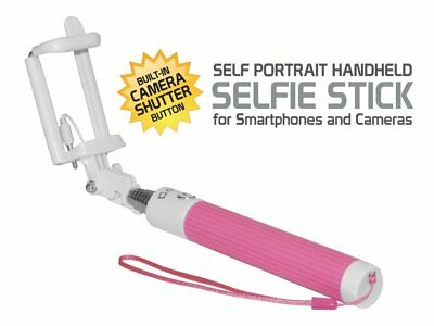 Blackberry KEYone Compact Pink Aux Cable Selfie Stick – No Charging Needed