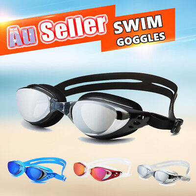 Adult Adjustable Swimming Glasses Swim Goggles Waterproof Anti-Fog UV