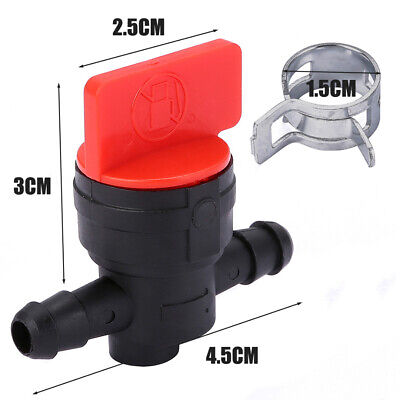 "1/4"" In-Line Straight Fuel Gas Small Shut Off Valve Petcock Motorcycle Mower"