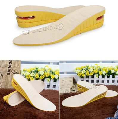 5cm 2 Layers Height Increase Shoe Insert Insole Air Cushion Shoes Pad SP007
