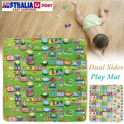 20mm Thick XL Large Baby Kids Toddler Play Mat Floor Rug 2mx1.8m Double Sides AB
