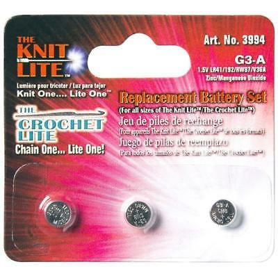 The Crochet Lite Replacement Battery x 3