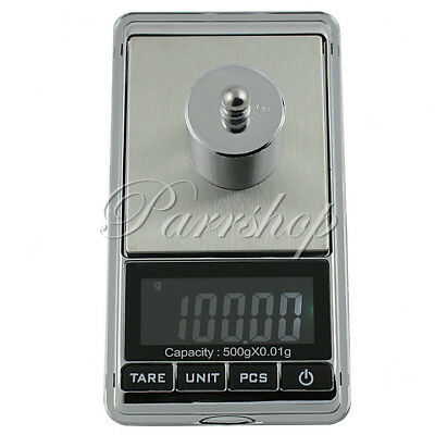 500g 0.01g Mini Pocket Digital Scale Weight Jewelry Small Coins Gold Silver