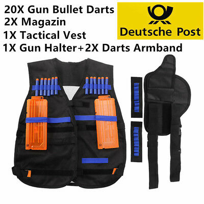 5in1 NERF N-Strike Darts Pfeile Elite Clip+Tactical Vest+Magazin+Halter+Armband