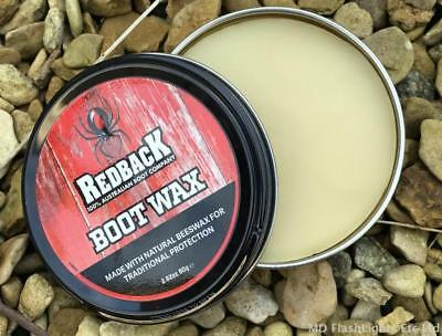 Redback Natural Beeswax Boot Wax For Full Grain Leather Waterproofs & Protects