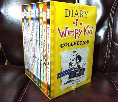 Diary of a Wimpy Kid Collection Box Set [10 Books] by Jeff Kinney [2017] ✔NEW✔
