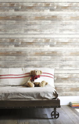 Distressed Wood Peel and Stick Wallpaper Decor Home Improvement Realistic Look