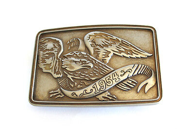 Retro 1980's Large Eagle Belt Buckle In Very Good Condition
