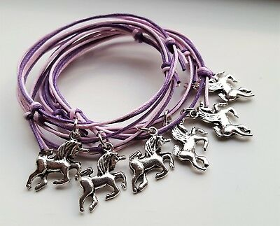 6x or 20x UNICORN BRACELETS Girls Party Bag Fillers FAIRY BUTTERFLY STAR
