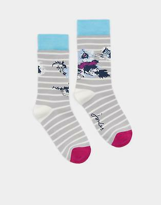 Joules Brilliant Bamboo Socks in Floral Size 4in8
