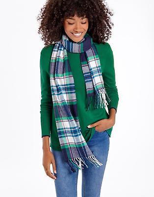 Joules Bracken Soft Handle Scarf in French Navy Check in One Size