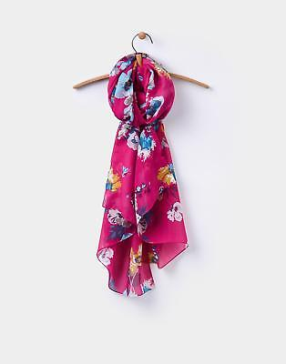 Joules Wensley Scarf in Ruby Pink Posy in One Size