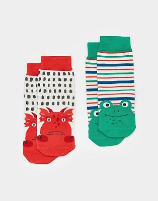 Joules Neat Feet Baby Boys Hypoallergenic Socks in Bamboo Mix in Dragon