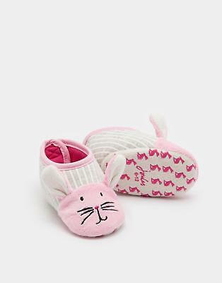 Joules Squeaker Girls Character Slippers with 3D Details Jersey Lining in Bunny