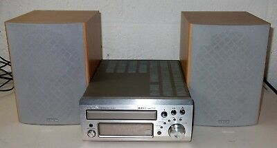 DENON UD-M31CD Player/Receiver Audio Shelf Mini System With Mission Speakers