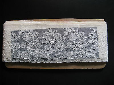 """Beautiful antique French lace from Calais! High 4"""", length c. 40""""...ca. 1925!"""